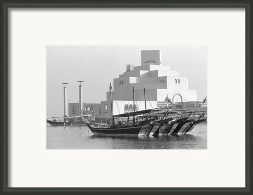 Museum Of Islamic Art In Doha Framed Print By Paul Cowan