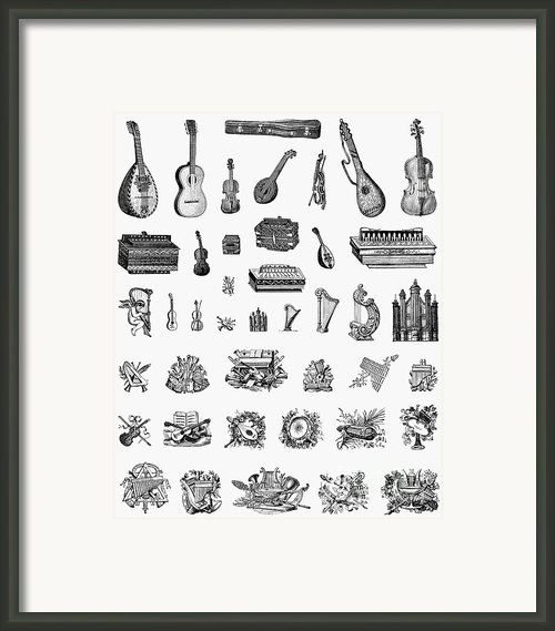 Musical Instruments Framed Print By Granger