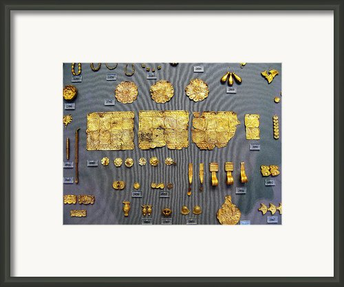 Mycenaean Gold Framed Print By Andonis Katanos