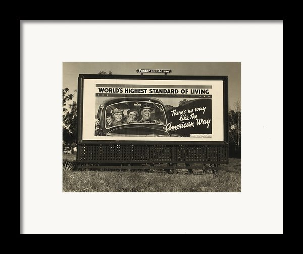 National Association Of Manufacturers Framed Print By Everett