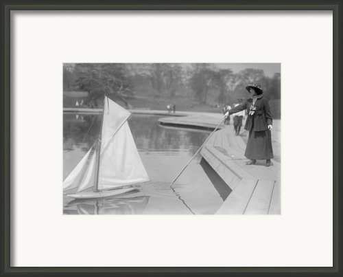 New York City, Start Of Toy Yacht Race Framed Print By Everett