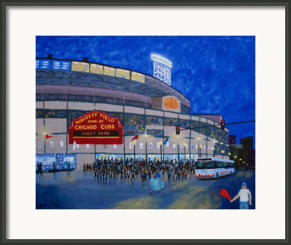 Night Game Framed Print By J Loren Reedy