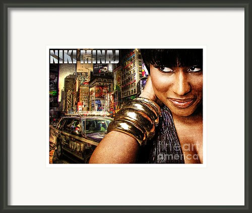 Niki Minaj Framed Print By The Digartist