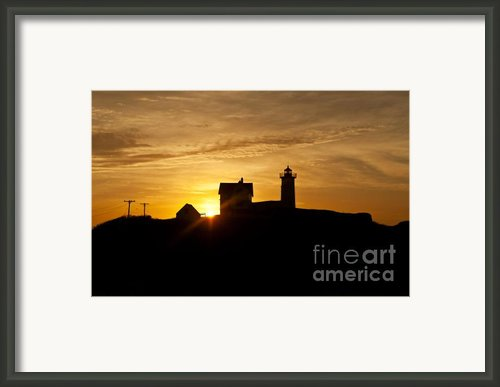 Nubble Lighthouse Framed Print By John Greim