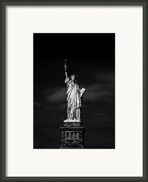 Nyc Miss Liberty Framed Print By Nina Papiorek