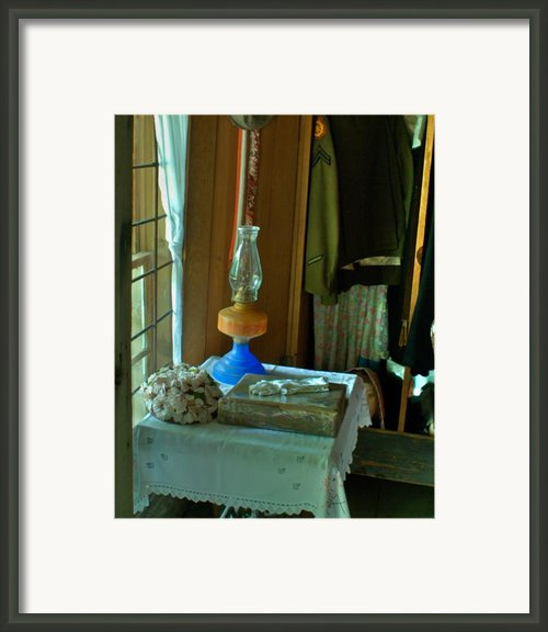Oil Lamp And Bible Framed Print By Douglas Barnett