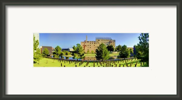 Oklahoma City National Memorial Framed Print By Ricky Barnard