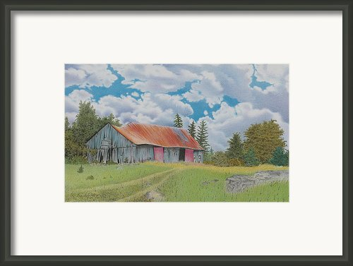 Old Barn Framed Print By Wilfrid Barbier
