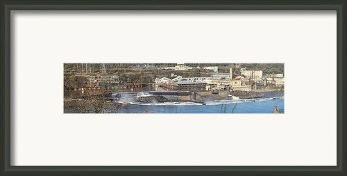 Old Industrial Complex Panorama Oregon City Or. Framed Print By Gino Rigucci