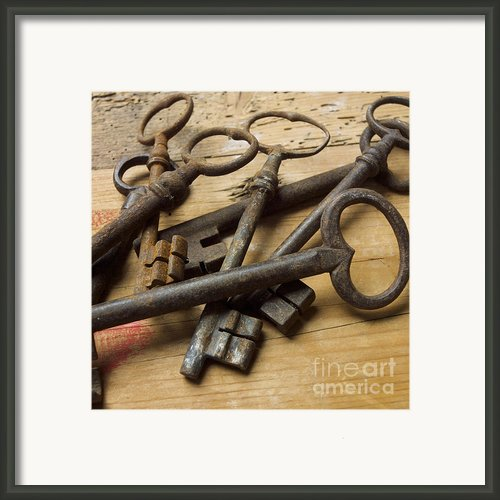 Old Keys Framed Print By Bernard Jaubert
