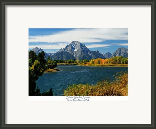 Oxbow Bend In Autumn Framed Print By Greg Norrell