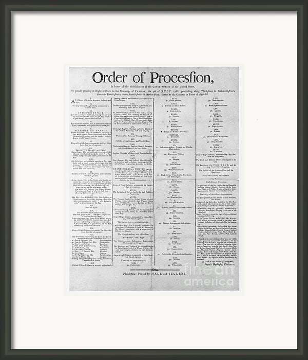 Parade For The Us Constitution Framed Print By Photo Researchers