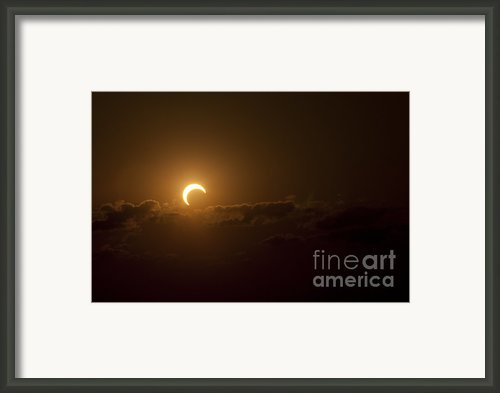 Partial Solar Eclipse Framed Print By Phillip Jones