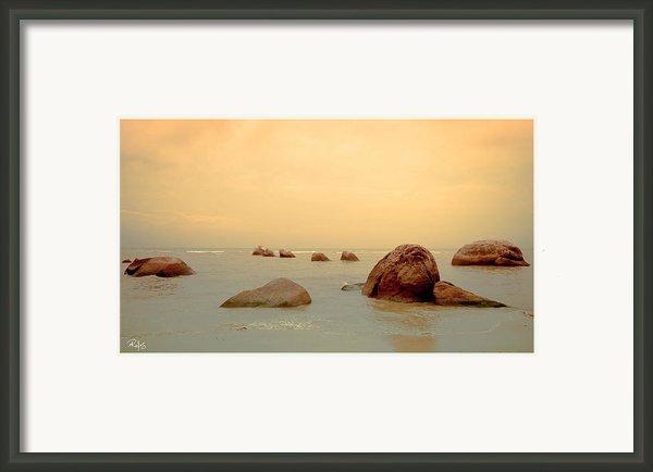 Pastel Rocks Framed Print By Allan Rufus