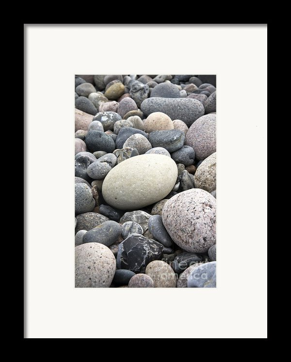 Pebbles Framed Print By Frank Tschakert