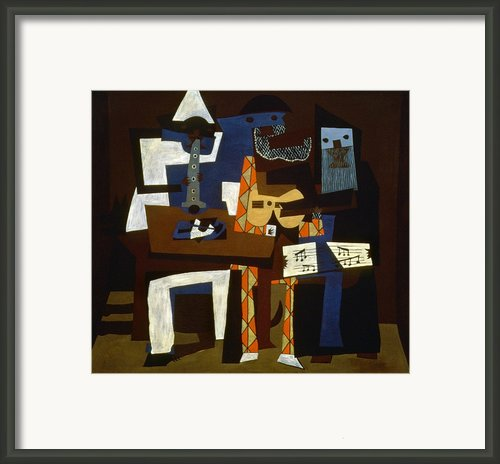 Picasso: Three Musicians Framed Print By Granger