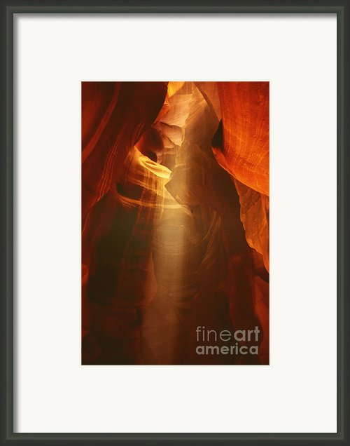 Pillars Of Light - Antelope Canyon Az Framed Print By Christine Till