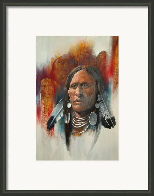 Plainsman Framed Print By Robert Carver