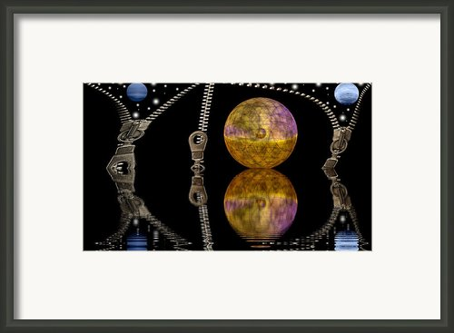 Planets And Zippers Framed Print By Odon Czintos