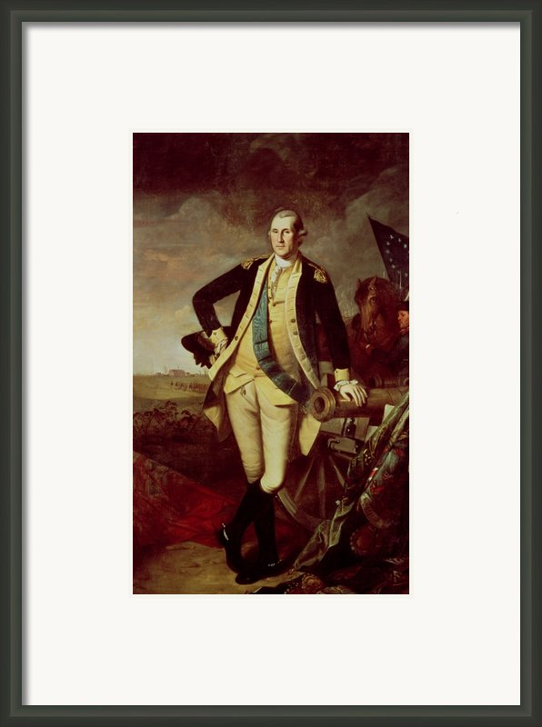 Portrait Of George Washington Framed Print By Charles Willson Peale
