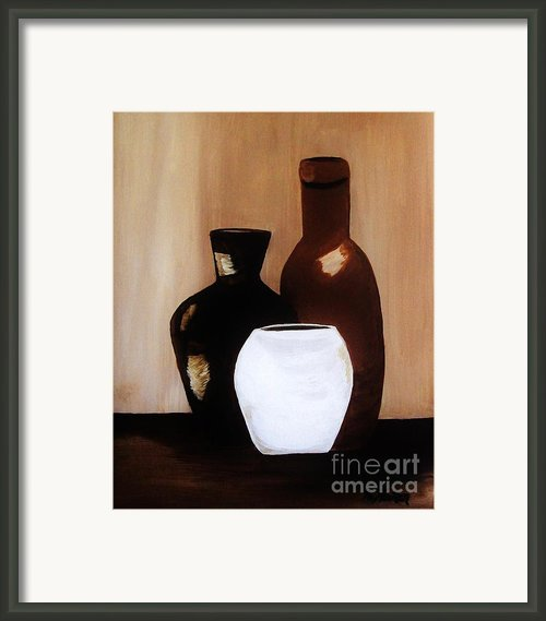Pottery From Portugal  Framed Print By Marsha Heiken