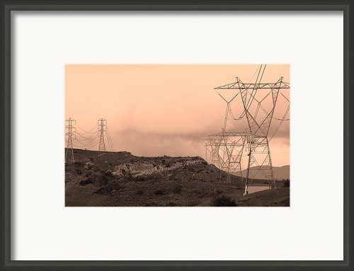 Power Lines Framed Print By Viktor Savchenko