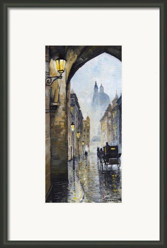 Prague Old Street 01 Framed Print By Yuriy  Shevchuk