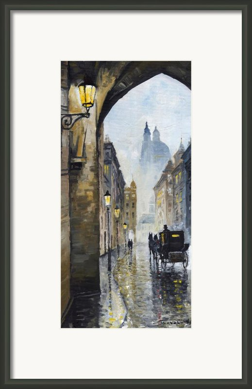 Prague Old Street 01 Framed Print By Yuriy  Shevchuk