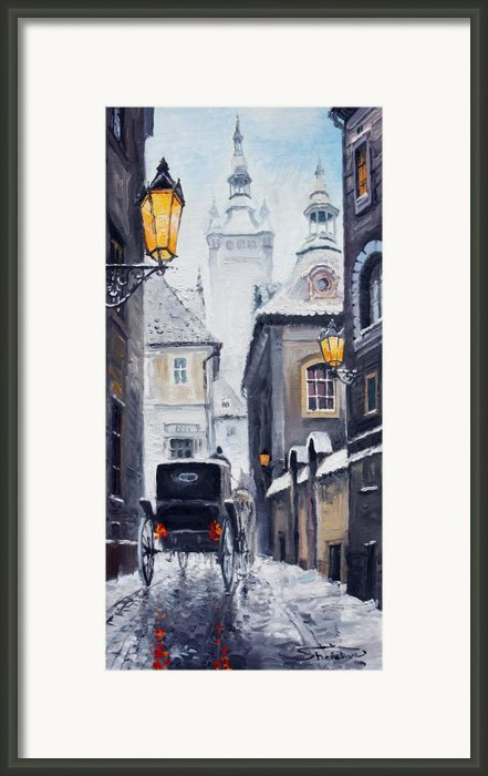 Prague Old Street 02 Framed Print By Yuriy  Shevchuk