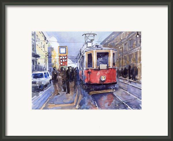 Prague Old Tram 03 Framed Print By Yuriy  Shevchuk