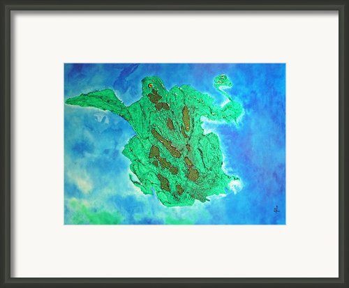 Prehistoric Waters Framed Print By Cheryl Allin