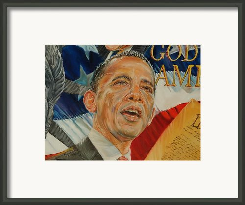 President Barack Obama Framed Print By Alex Krasky