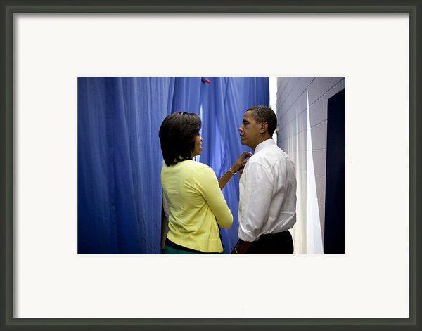 President Barack Obama And First Lady Framed Print By Everett