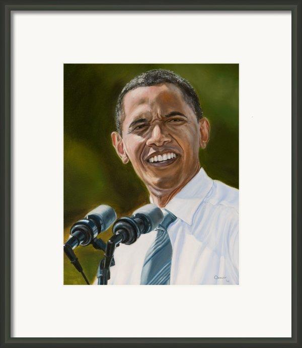 President Barack Obama Framed Print By Christopher Oakley