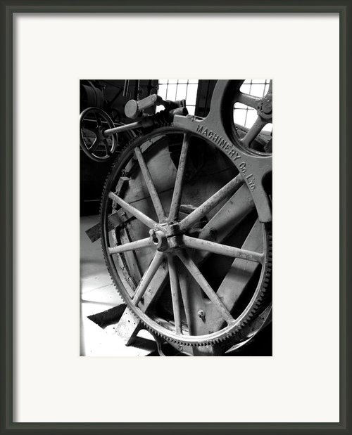 Prison Gear Framed Print By Elizabeth Richardson