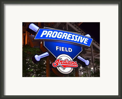 Progressive Field Framed Print By Robert Harmon