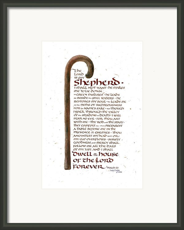 Psalm 23 Framed Print By Judy Dodds