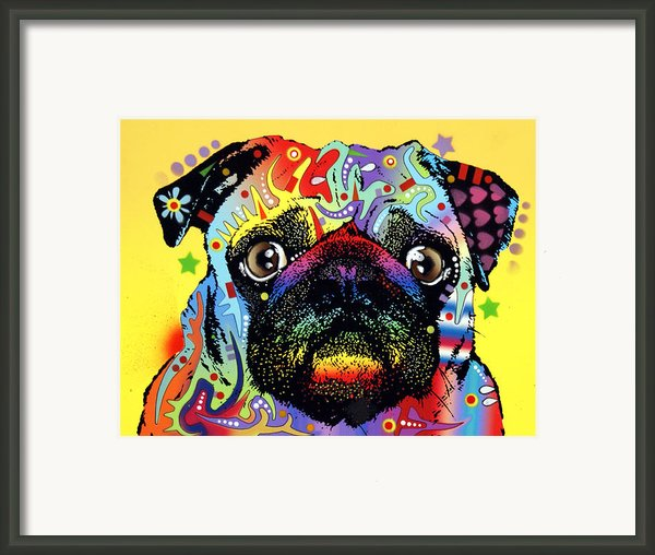 Pug Framed Print By Dean Russo