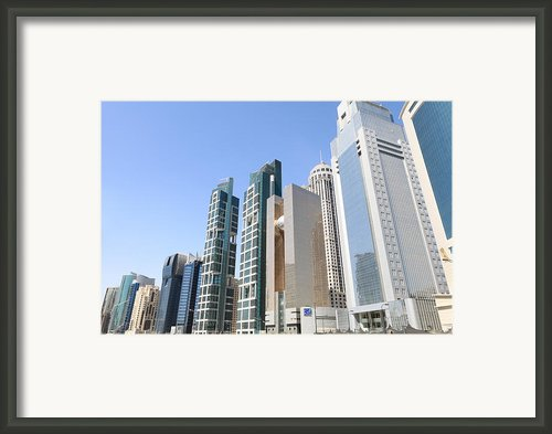 Qatars Financial Front Line Framed Print By Paul Cowan