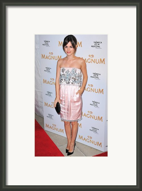 Rachel Bilson Wearing A Chanel Couture Framed Print By Everett