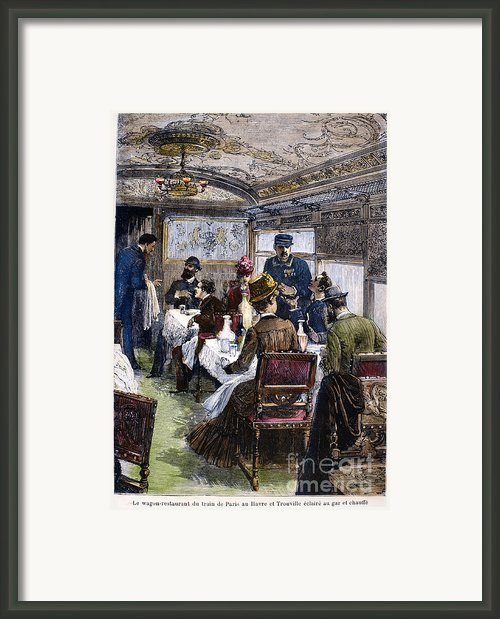 Railroad: Dining Car, 1880 Framed Print By Granger