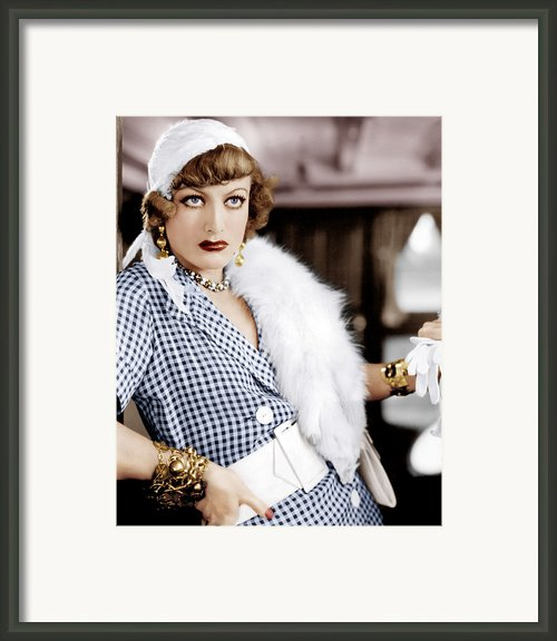 Rain, Joan Crawford, 1932 Framed Print By Everett