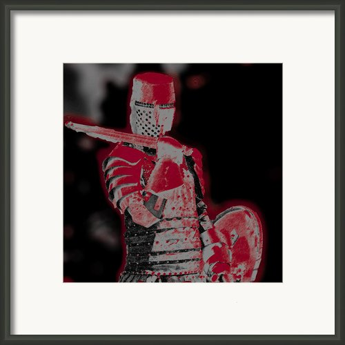 Red Knight Framed Print By Lillian Michi Adams