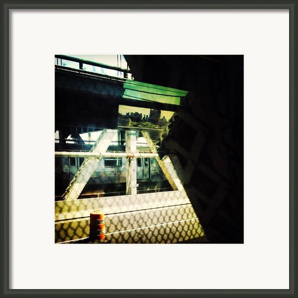 Reflection On The Q Framed Print By Natasha Marco