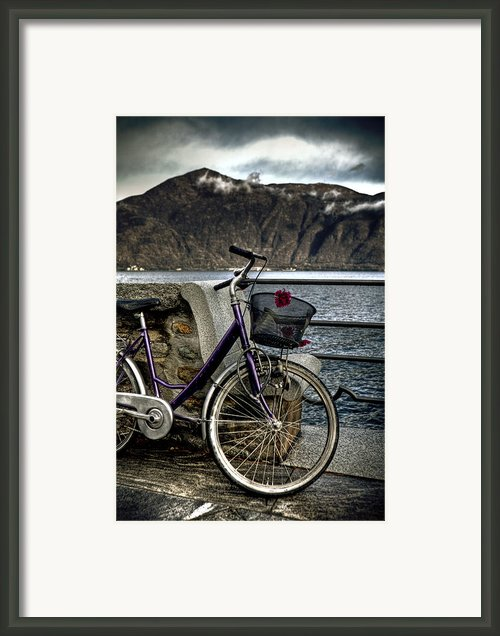 Retro Bike Framed Print By Joana Kruse