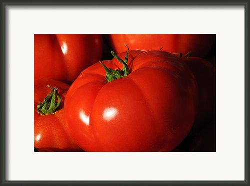 Ripe Tomatoes Framed Print By Connie Cooper-edwards