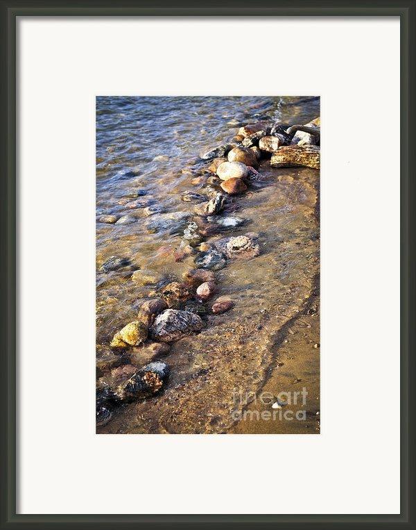 Rocks In Water Framed Print By Elena Elisseeva