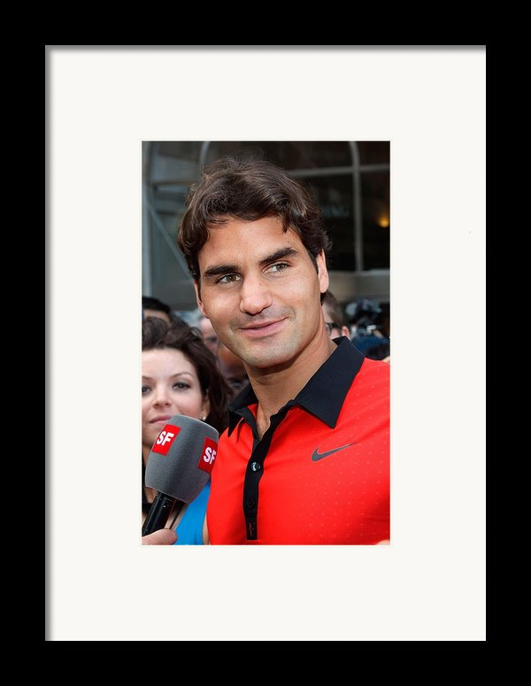 Roger Federer At A Public Appearance Framed Print By Everett