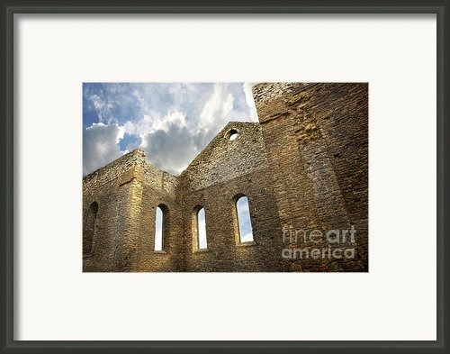 Ruins Of A Church In South Glengarry Framed Print By Sandra Cunningham