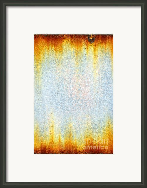 Rusty Background Framed Print By Carlos Caetano